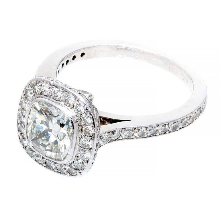 Diamond Halo Platinum Ring 1