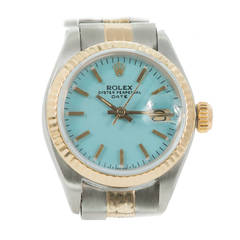 Rolex Lady's Yellow Gold Stainless Steel Oyster Perpetual Wristwatch Ref 6916