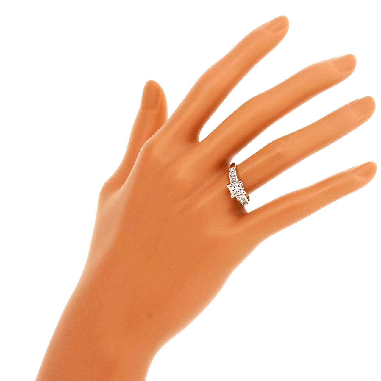Diamond Gold Engagement Ring For Sale 2
