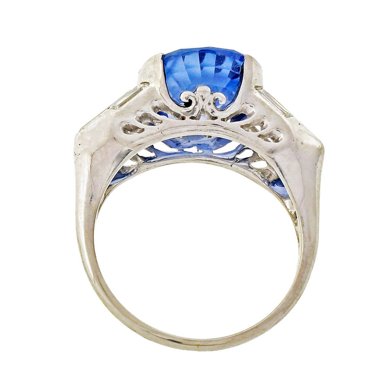 Diamond Rings For Sale Cheap: Blue Sapphire And Diamond Platinum Ring For Sale At 1stdibs