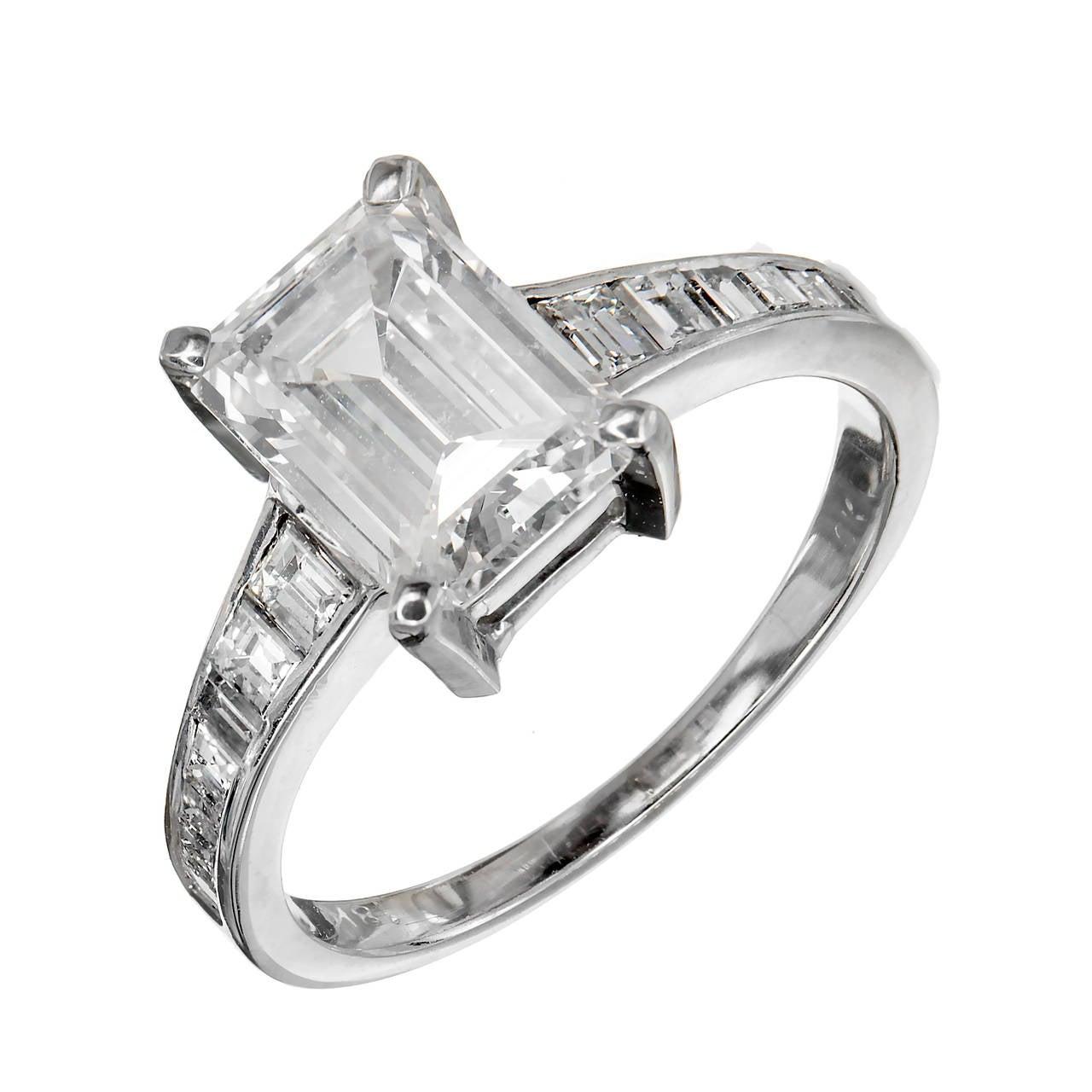 white gold platinum engagement ring at 1stdibs