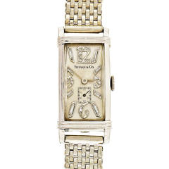 Longines Platinum White Gold Diamond Wristwatch