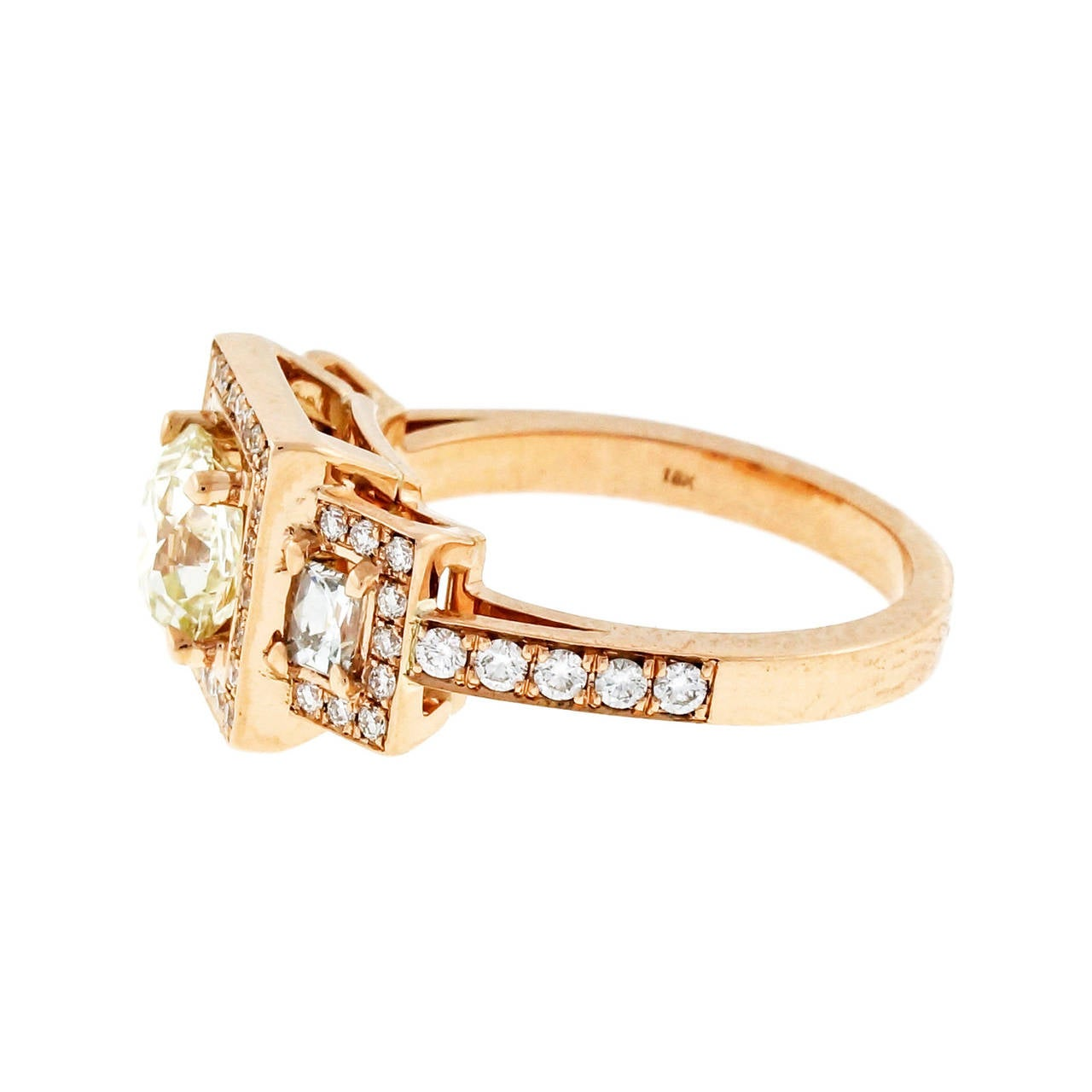 Peter Suchy 1.26 Carat Diamond Rose Gold Triple Halo Engagement Ring 5