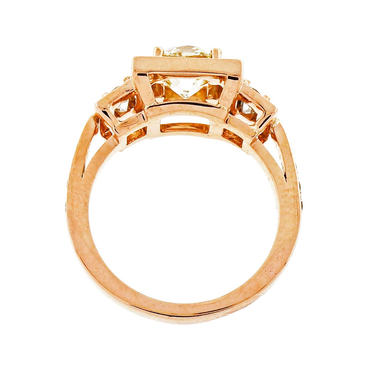 Peter Suchy 1.26 Carat Diamond Rose Gold Triple Halo Engagement Ring 6