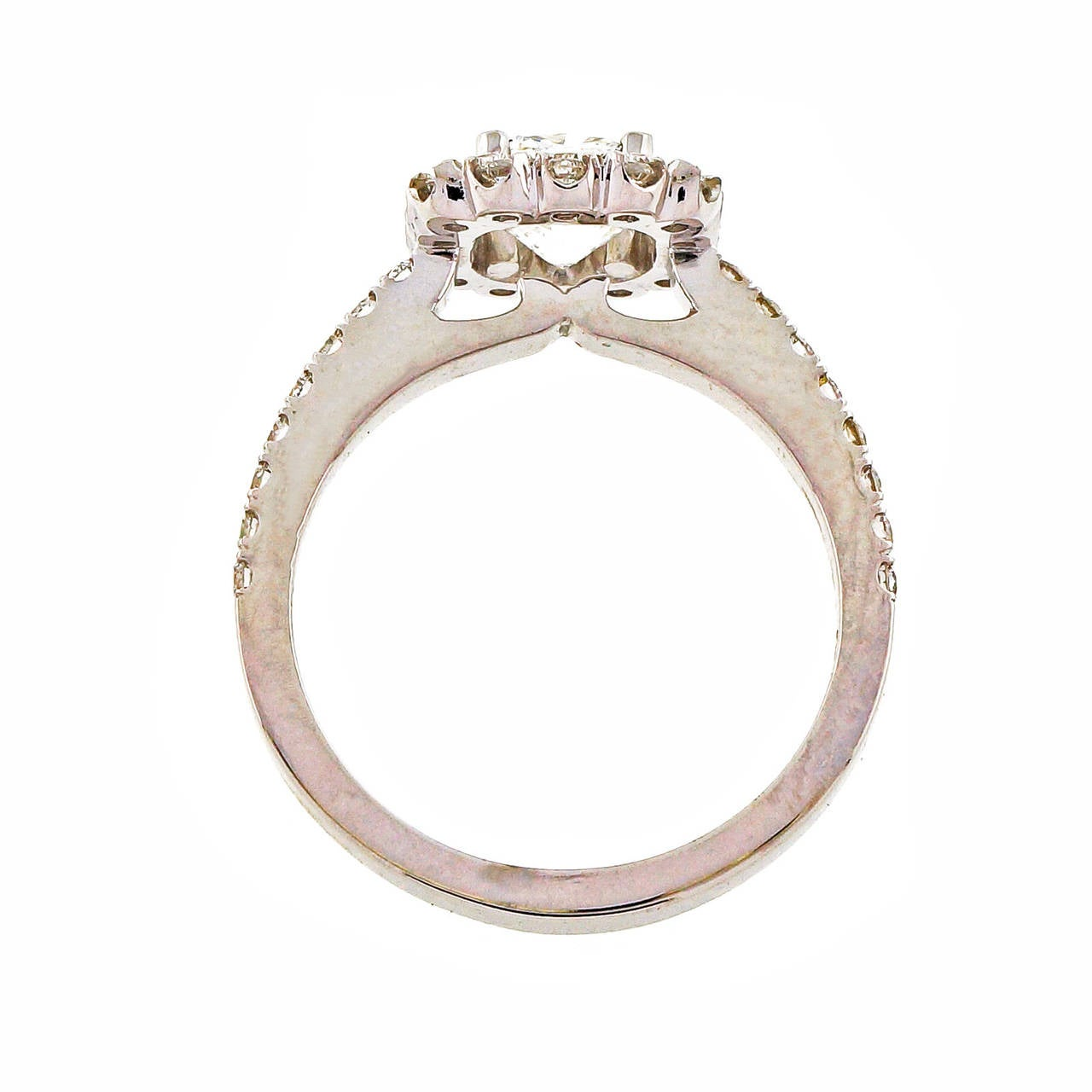 Peter Suchy Square Cushion Cut Diamond Platinum Halo Ring For Sale at 1stdibs