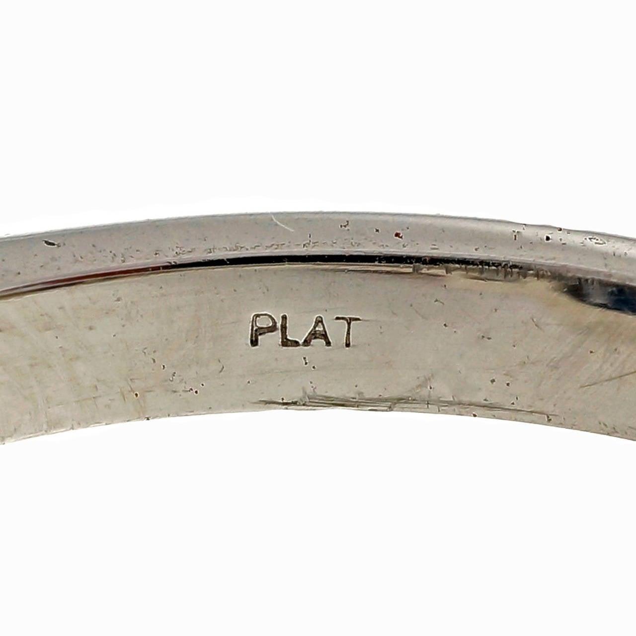 Peter Suchy 4.12 Carat Sapphire Diamond Platinum Triple Halo Engagement Ring 7