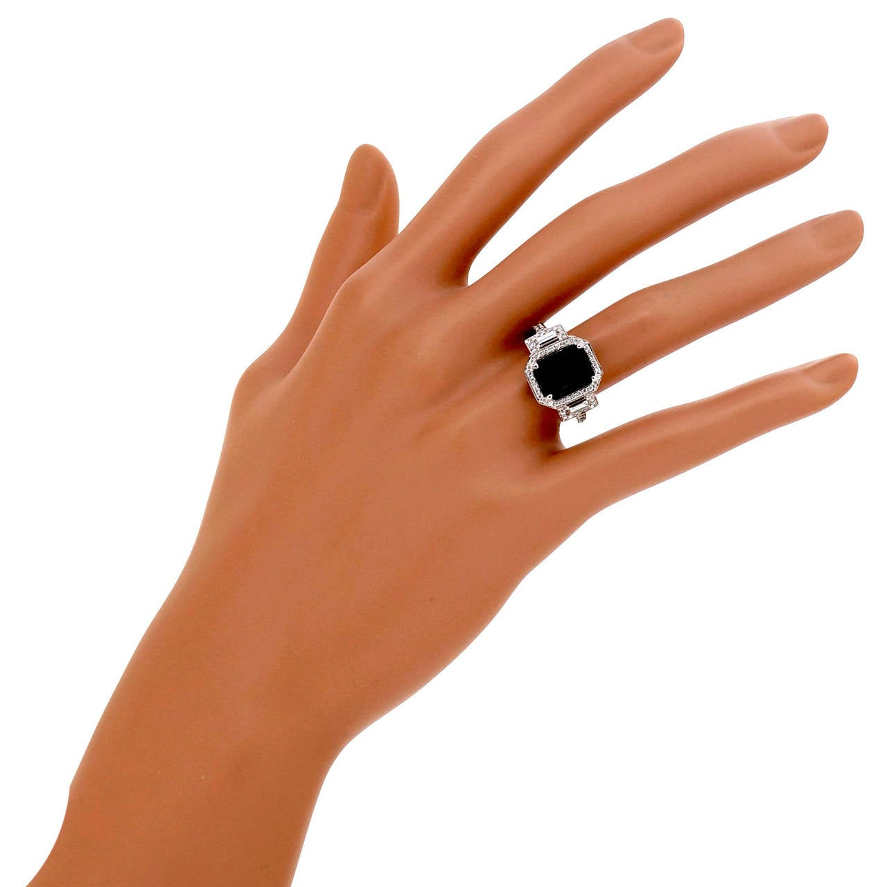 Peter Suchy 4.12 Carat Sapphire Diamond Platinum Triple Halo Engagement Ring 9