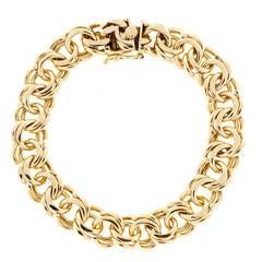 1940s Double Spiral Gold Link Bracelet