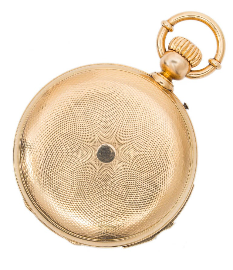 Victorian A & S Railroad Gold Minute Repeating Pocket Watch Presented to J.H. Ramsey 1865 For Sale