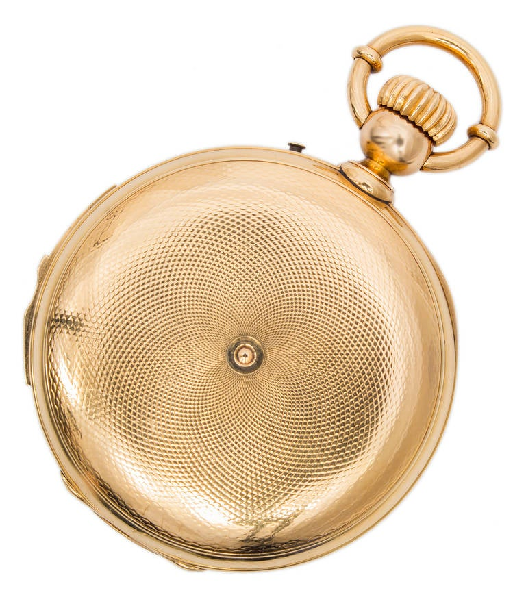 A & S Railroad Gold Minute Repeating Pocket Watch Presented to J.H. Ramsey 1865 For Sale 1