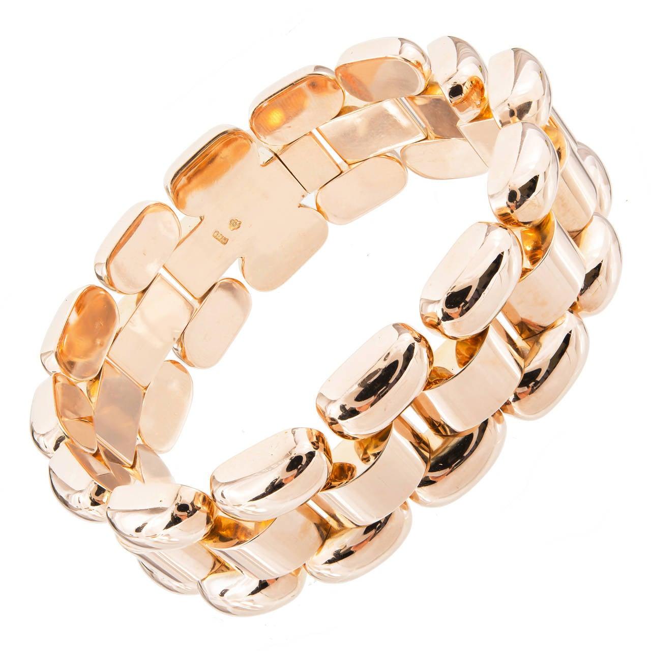 Rose Gold Hinged Link Bracelet
