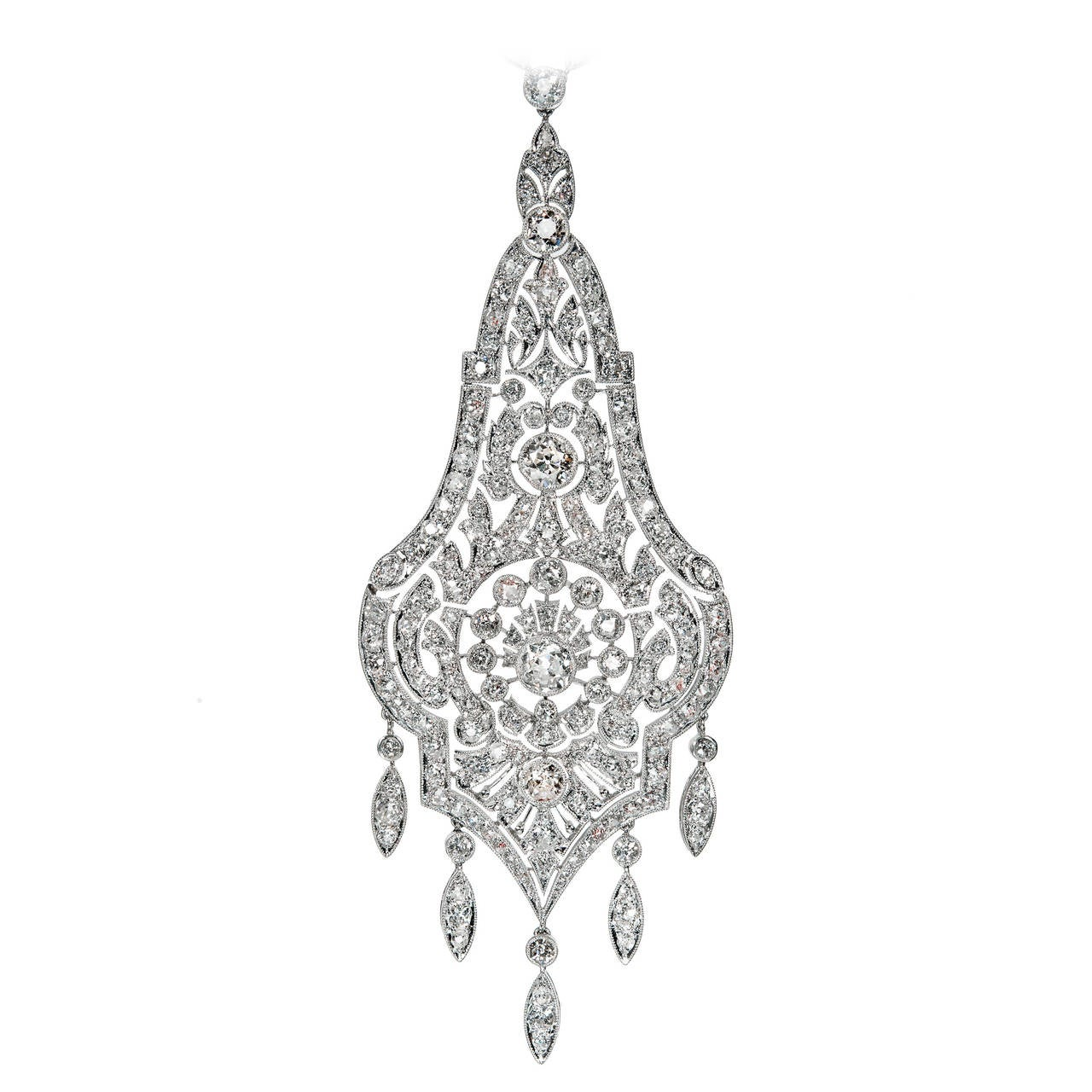 Diamond Platinum Pendant Necklace