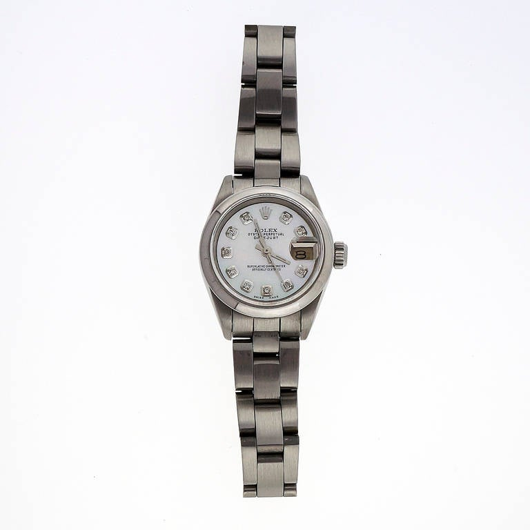 Rolex Lady's Steel Datejust Oyster Band Wristwatch Ref 69173 2