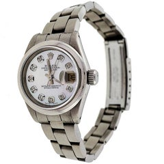 Rolex Lady's Steel Datejust Oyster Band Wristwatch Ref 69173