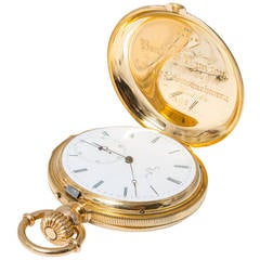 A & S Railroad Gold Minute Repeating Pocket Watch Presented to J.H. Ramsey 1865