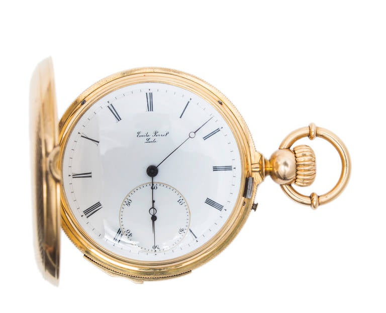 A & S Railroad Gold Minute Repeating Pocket Watch Presented to J.H. Ramsey, 1865 For Sale 4