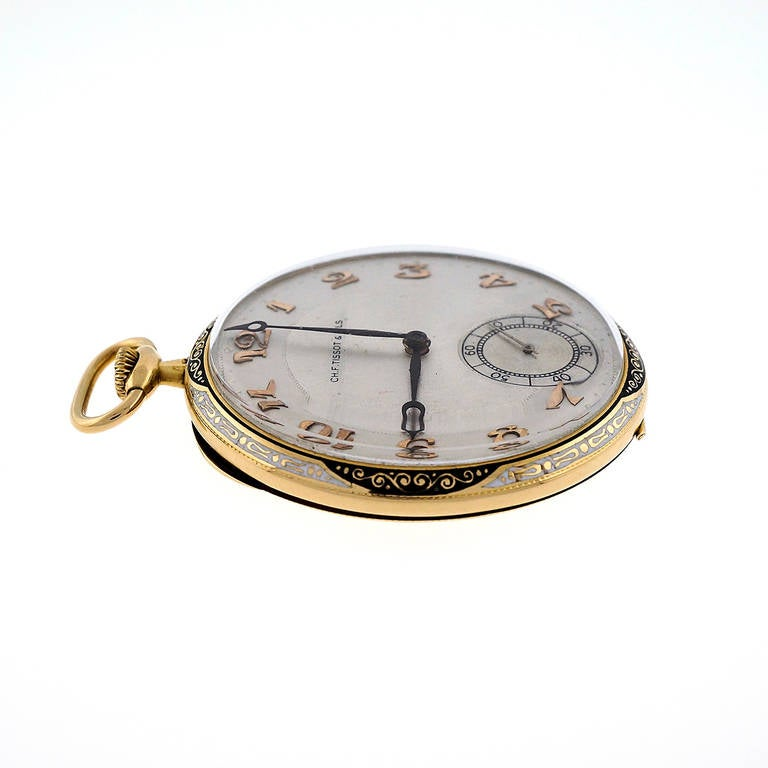ch f tissot yellow gold pocket circa 1930s at 1stdibs