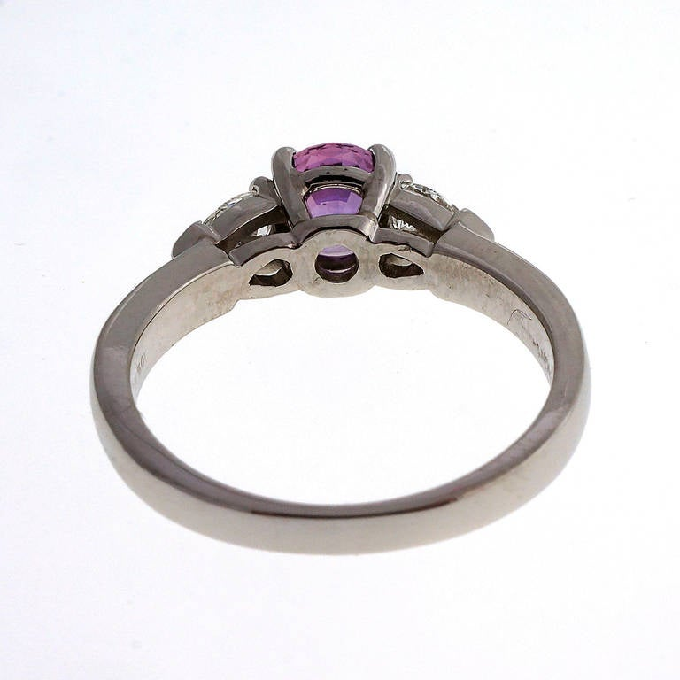 Purple Sapphire Engagement Rings Pear Shaped