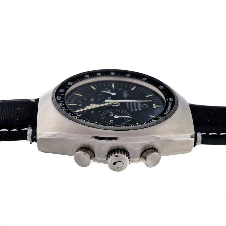 Omega Stainless Steel Speedmaster Mark II Chronograph Wristwatch For Sale 1