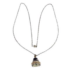 Egyptian Revival Silver Watch Necklace Pendant