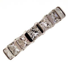 Peter Suchy Diamond Platinum Eternity Wedding Band Ring