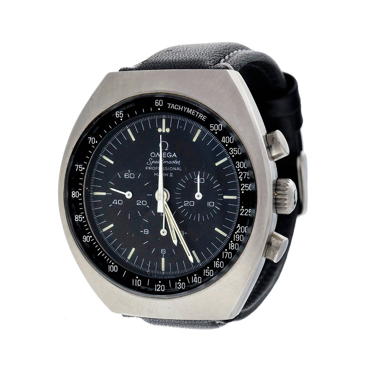 Omega Stainless Steel Speedmaster Mark II Chronograph Wristwatch For Sale