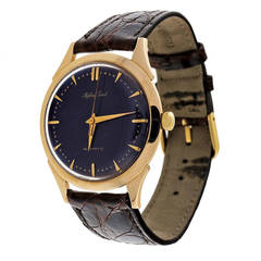 Mathey Tissot Yellow Gold Automatic Wristwatch with Custom-Colored Dial