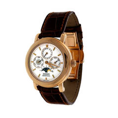 Movado Rose Gold Perpetual Calendear Moonphase Automatic Wristwatch