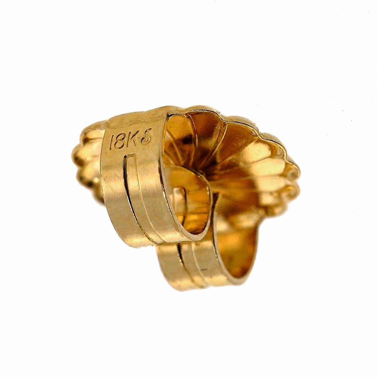 aqua sapphire yellow gold dangle earrings at 1stdibs