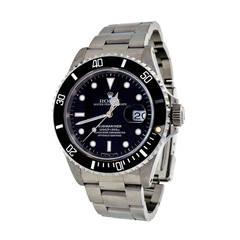 Rolex Stainless Steel Submariner Wristwatch Ref 16610