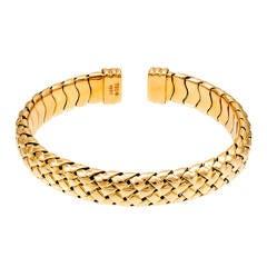Tiffany & Co. Summerset Yellow Gold Cuff Bracelet