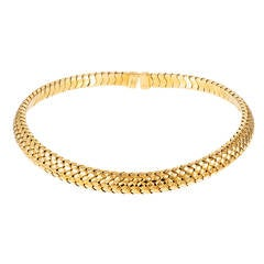 Tiffany & Co. Yellow Gold Mesh Collar Necklace