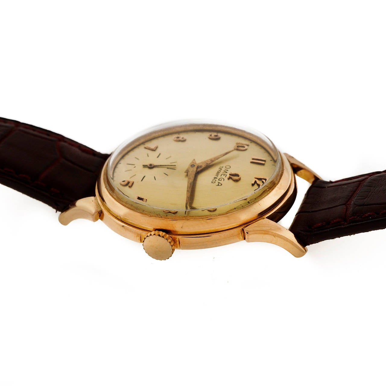 Omega Tiffany & Co. Rose Gold Wristwatch  For Sale 1