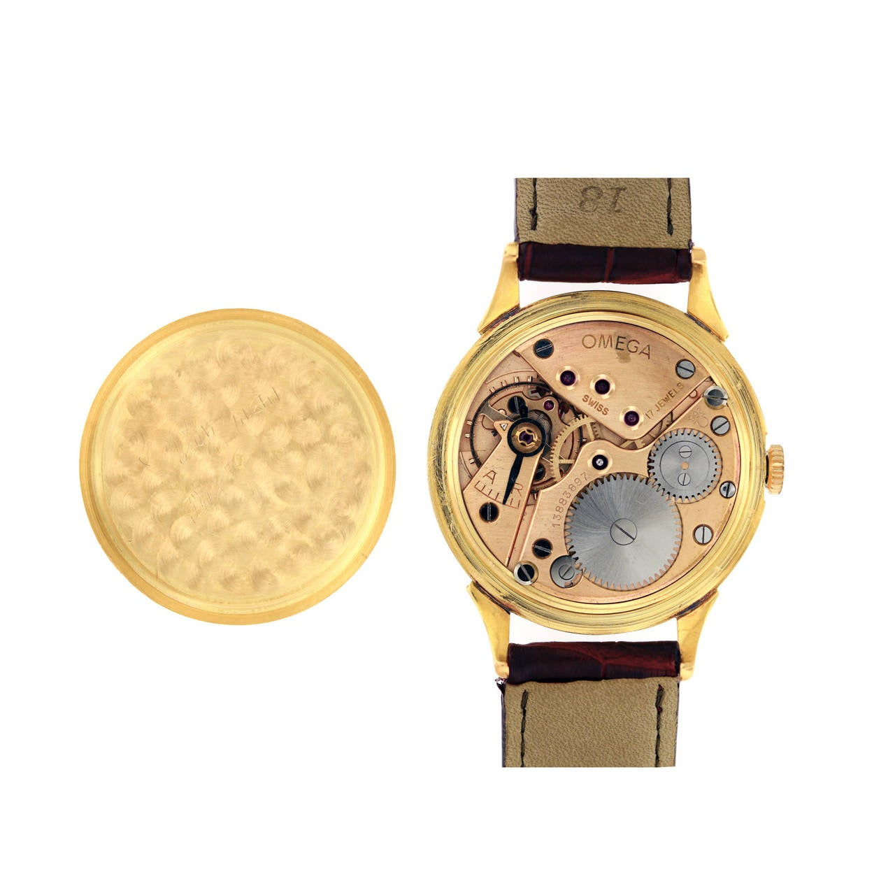 Omega Tiffany & Co. Rose Gold Wristwatch  For Sale 3
