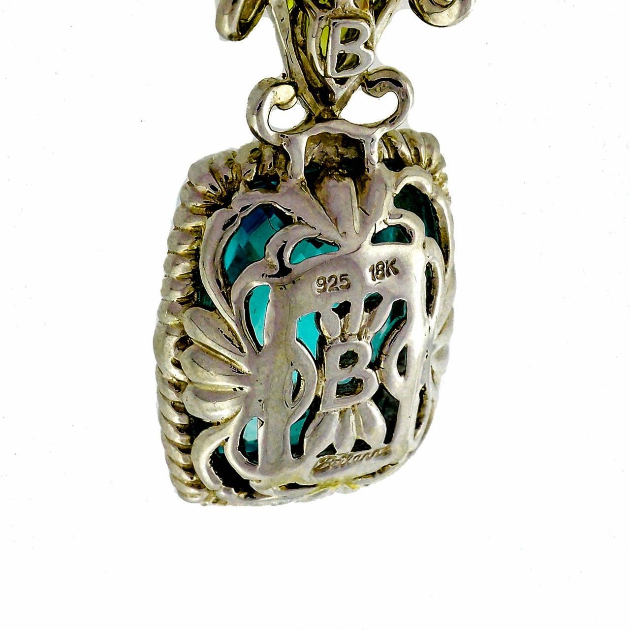 Bellarri Peridot Topaz DIamond Silver Pink Gold Dangle Earrings 4