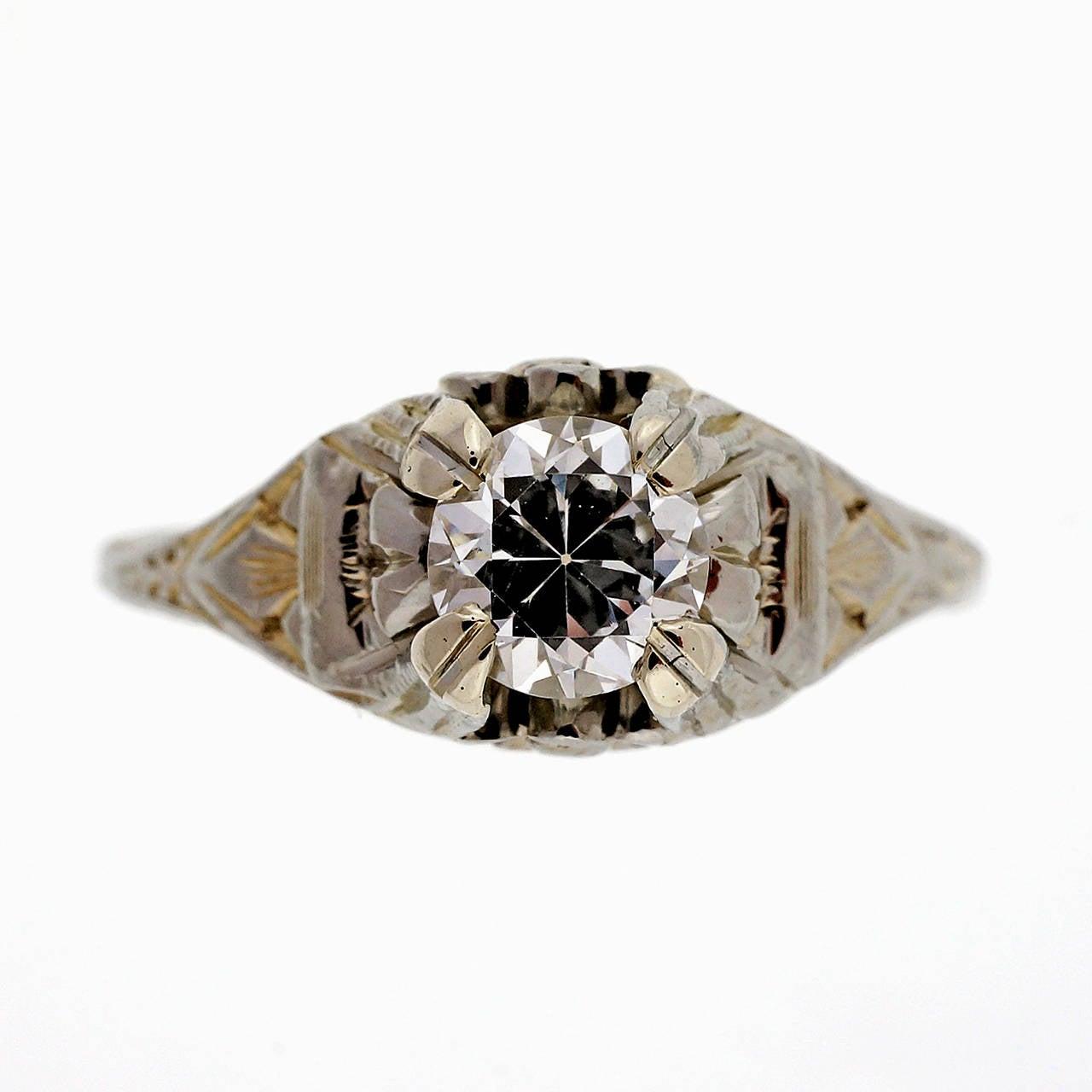 white gold filigree ring at 1stdibs