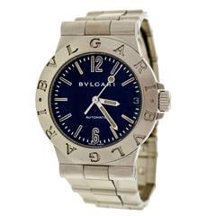 Bulgari Stainless Steel Diagono Automatic Wristwatch, circa 1995