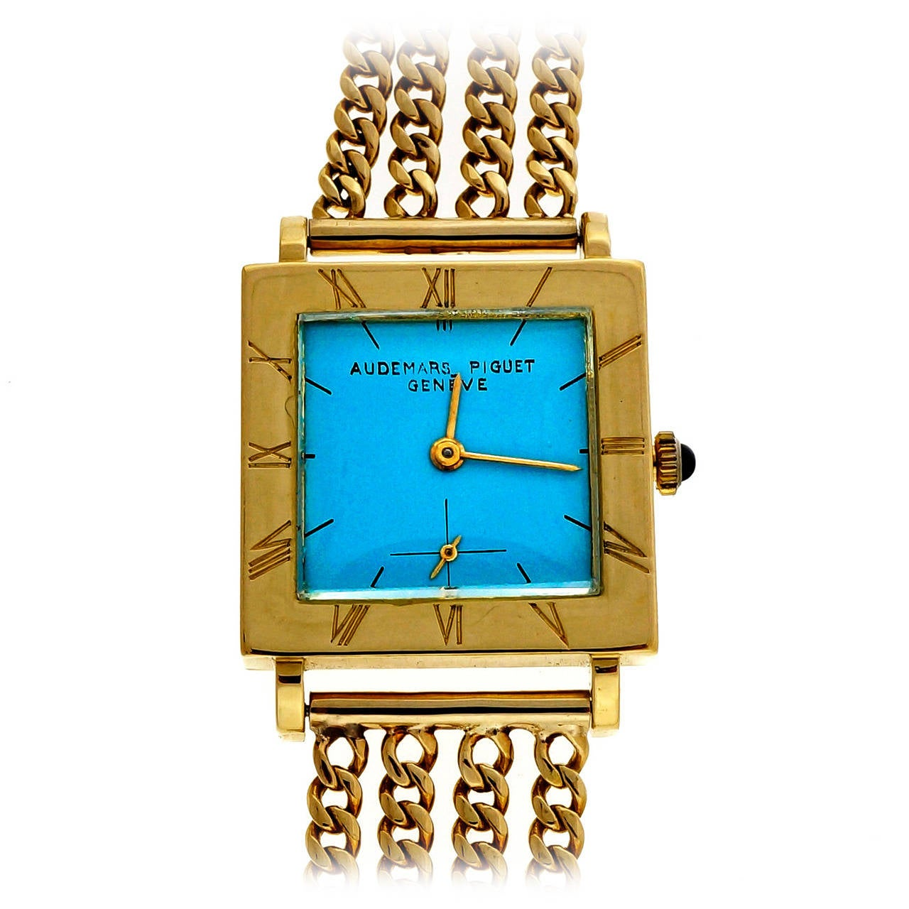 Audemars Piguet Lady's Yellow Gold Wristwatch with Custom-Colored Dial