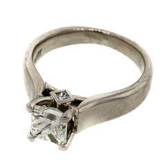 Scott Kay Princess Cut Diamond Platinum Engagement Ring