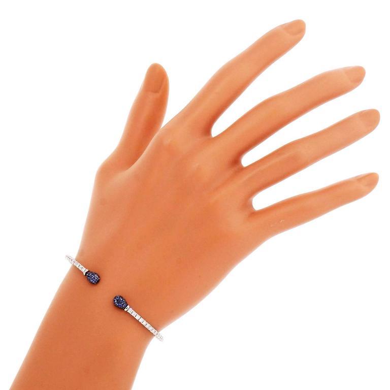 Spark Sapphire Diamond Gold Cuff Bracelet 7