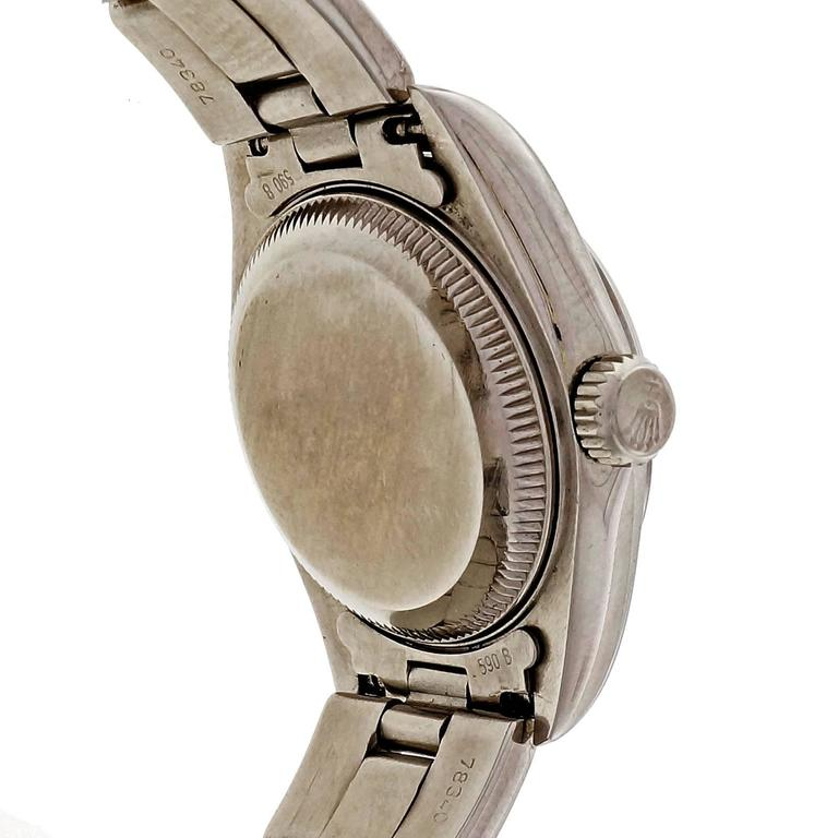Rolex Lady's Stainless Steel Datejust Custom Colored Dial Wristwatch Ref 69160 For Sale 1