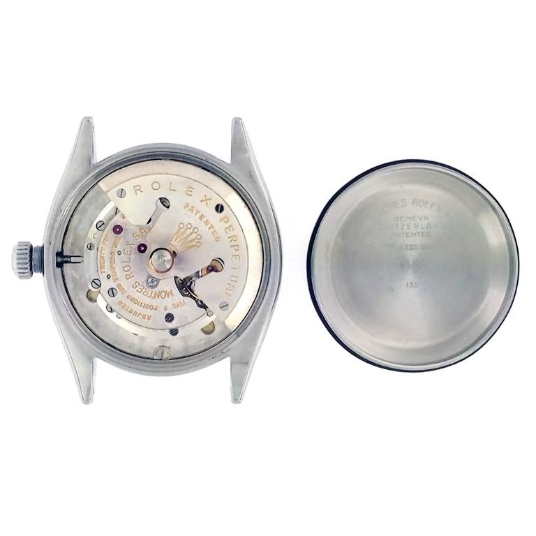 Rolex Lady's Stainless Steel Datejust Custom Colored Dial Wristwatch Ref 69160 For Sale 3