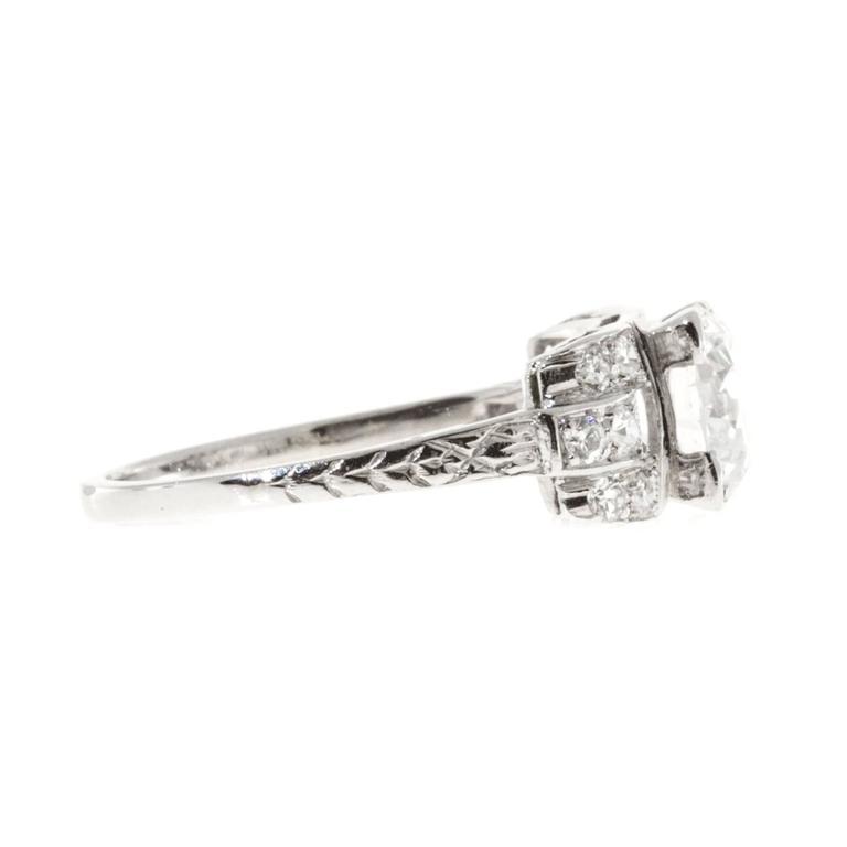 Diamond Platinum Engagement Ring For Sale 2
