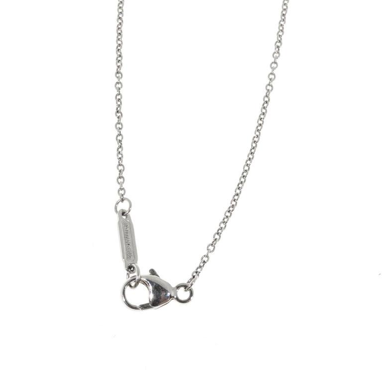Women's Tiffany & Co. Diamond Platinum Circle Flower Pendant Necklace For Sale