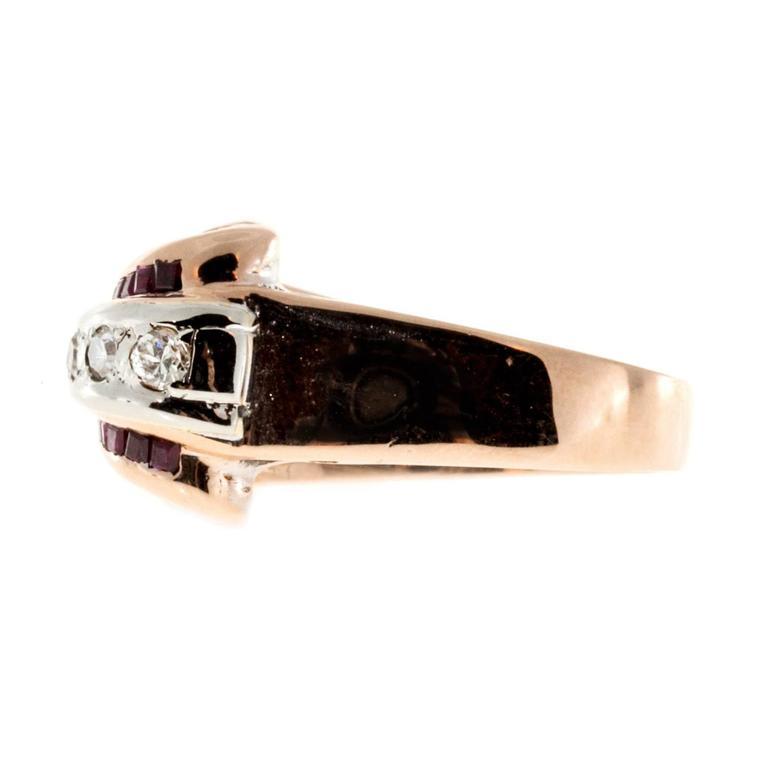 Ruby Diamond Gold Palladium Ring 6