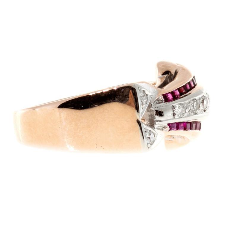 Ruby Diamond Gold Palladium Ring 2