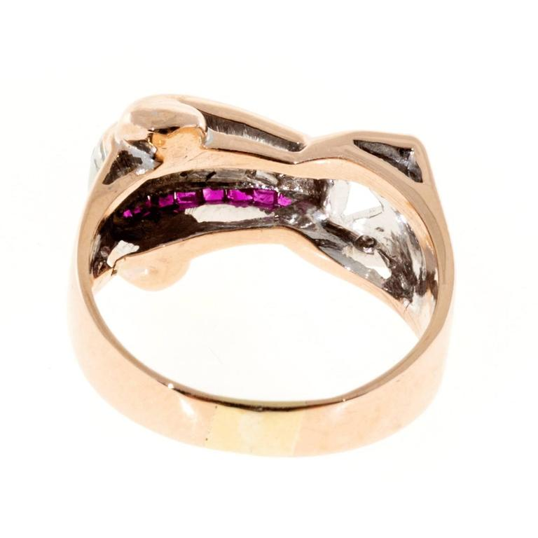 Ruby Diamond Gold Palladium Ring 3