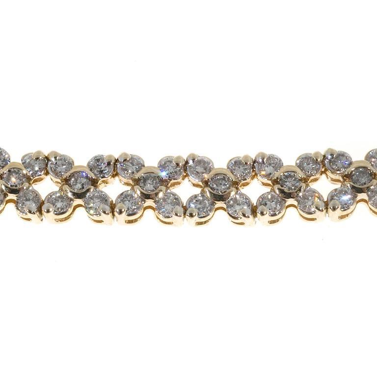 Diamond Gold Hinged Link Bracelet For Sale 2