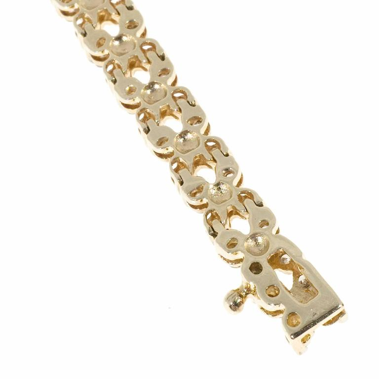 Diamond Gold Hinged Link Bracelet For Sale 3