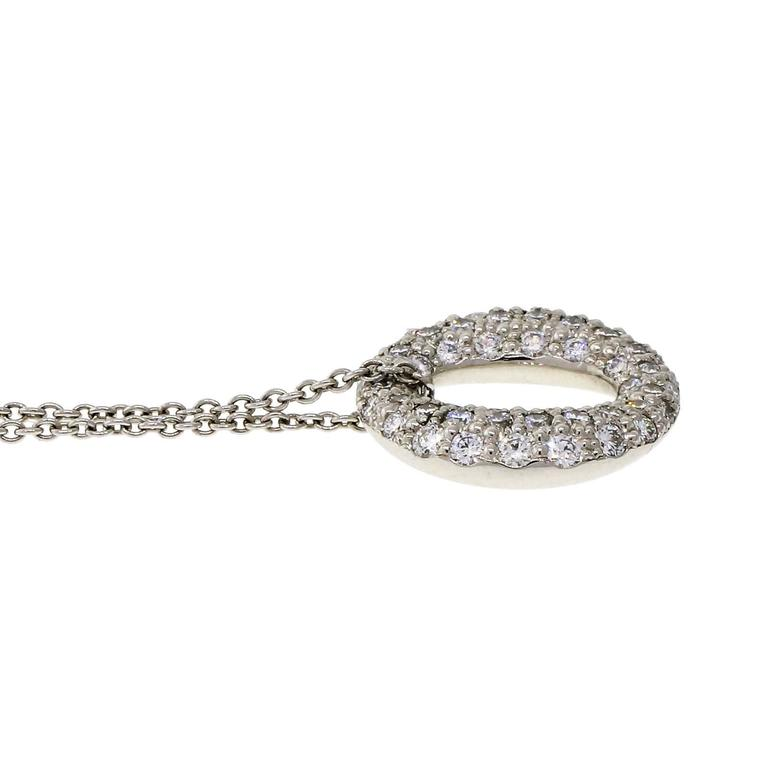 Tiffany & Co. Sevillana Diamond Platinum Pendant Necklace  4